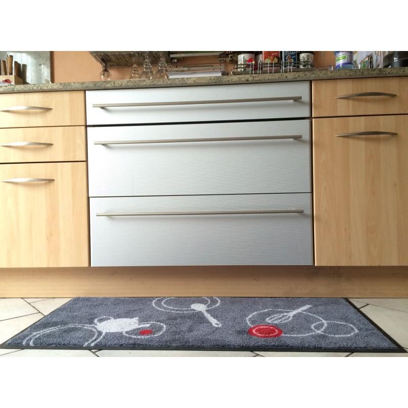 Tapis d coratif cuisine en nylon 50 115 cm tapis isba for Deco cuisine 50 s