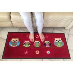 Tapis déco Chouettes ISBA - 50*115 cms