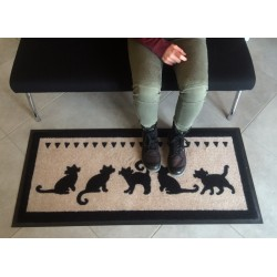 Tapis déco Chats ISBA - 50*115 cms