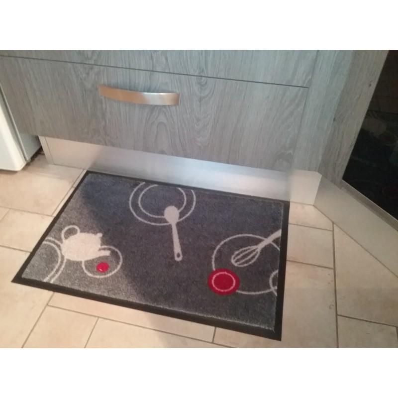 "tapis décoratif ""cuisine"" en nylon 50*75 cm | tapis isba"
