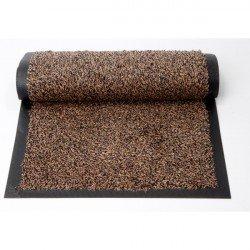 115*180 CM Tapis coton avec bord terre de sienne
