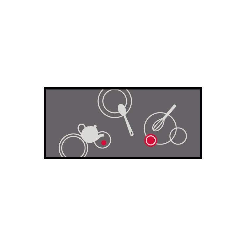 "tapis décoratif ""cuisine"" en nylon 50*115 cm | tapis isba"